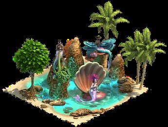 Meerjungfrau in einer Muschel