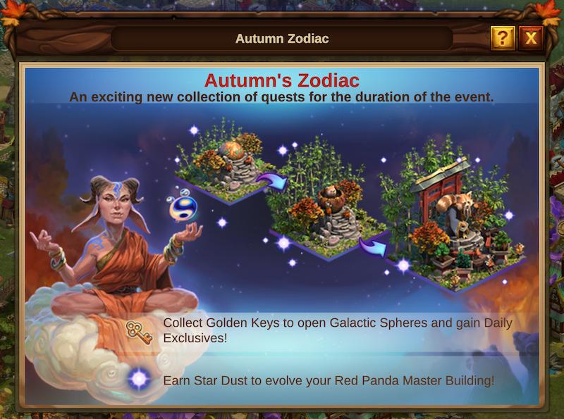 Herbstliche Sternzeichen Event 2021 Event Intro: Bild vom Beta-Server