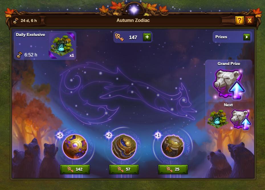 Herbstliche Sternzeichen Event: Bild vom Beta-Server