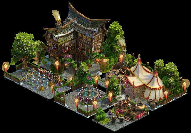Gebäude-Set zum Karneval Event