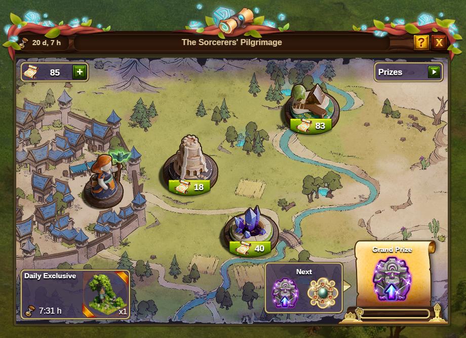 Die Pilgerreise der Zauberer 2020 Event Fenster: Bild vom Beta-Server