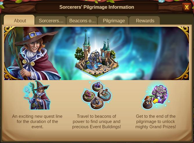 Die Pilgerreise der Zauberer 2020 Event info Screenshot Tab 1