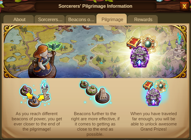 Die Pilgerreise der Zauberer 2020 Event info Screenshot Tab 4