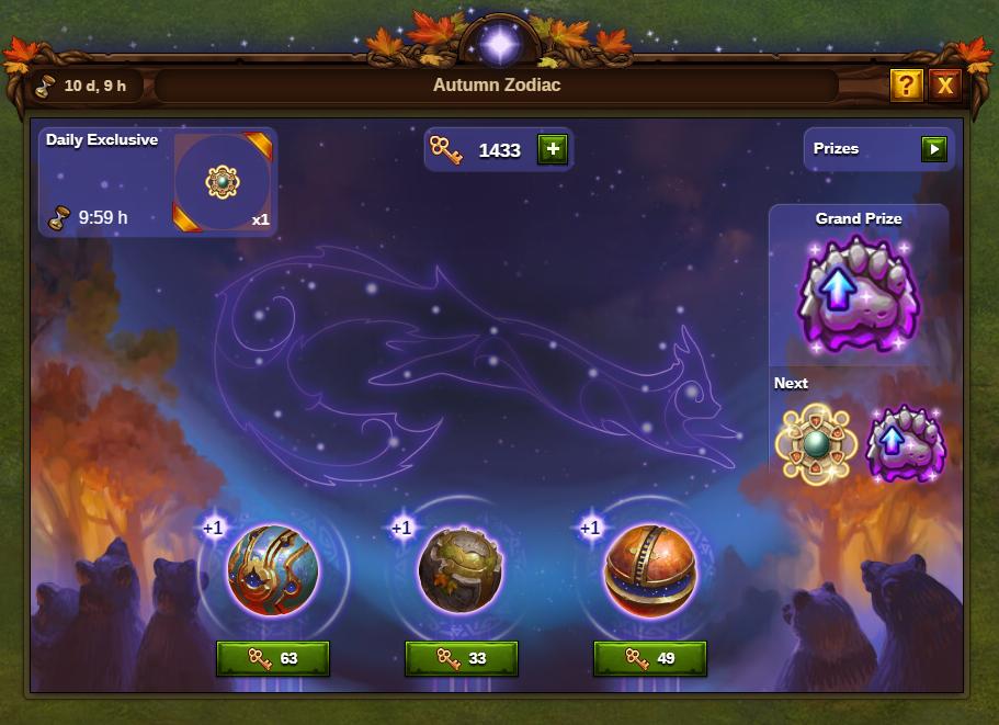 Herbstliche Sternzeichen 2020 Event Fenster: Bild vom Beta-Server