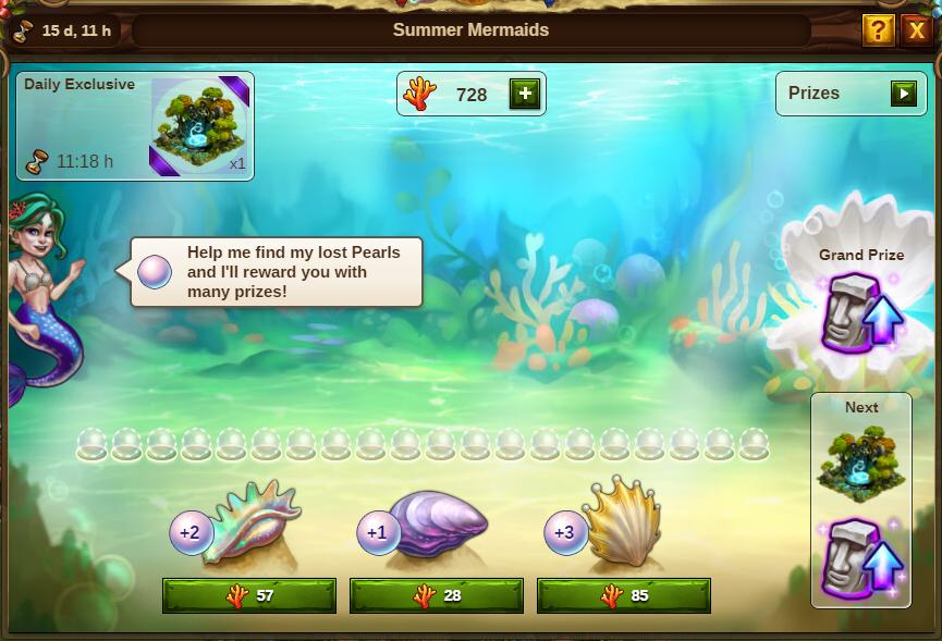 Sommer Meerjungfrauen Event: Bild vom Beta-Server