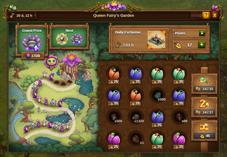 Garten der Feenkönigin Event 2021 Event Fenster: Bild vom Beta-Server